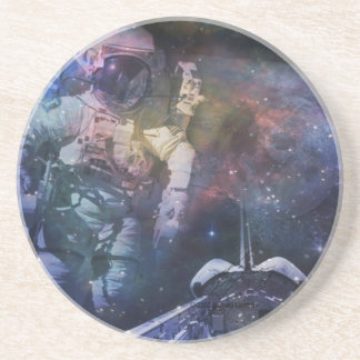 Explore the Beauty of Space Sandstone Coaster