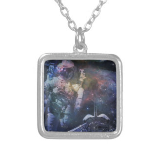 Explore the Beauty of Space Silver Plated Necklace