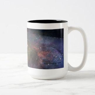 Explore the Beauty of Space Two-Tone Coffee Mug