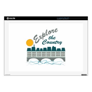 """Explore The Country Decal For 17"""" Laptop"""
