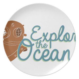 Explore The Oceans Dinner Plate