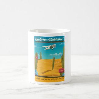 Explore the Wilderness Desert travel poster Coffee Mug