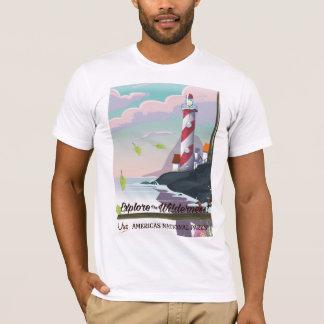 Explore the wilderness lightouse T-Shirt