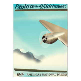 Explore the Wilderness Vintage Aircraft. Card