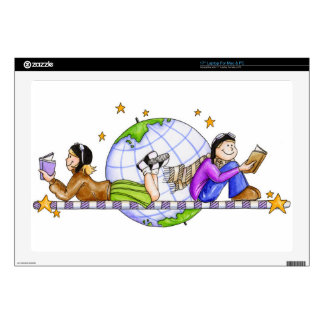 Explore The World; Read Laptop Decal