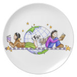 Explore The World; Read Party Plates