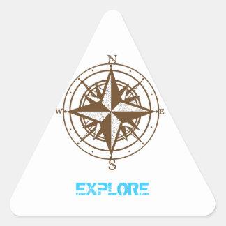 Explore Triangle Sticker