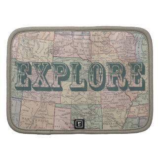 Explore - Vintage map quotes Planner