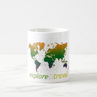 explore y viaje tazas de café