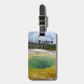 Explore (Yellowstone N.P.) Luggage Tag