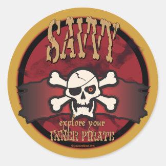 Explore Your Inner Pirate Classic Round Sticker