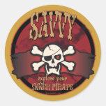 Explore Your Inner Pirate Round Sticker