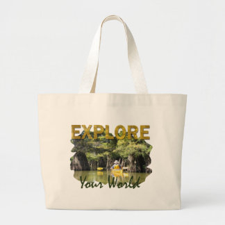 Explore Your World Large Tote Bag