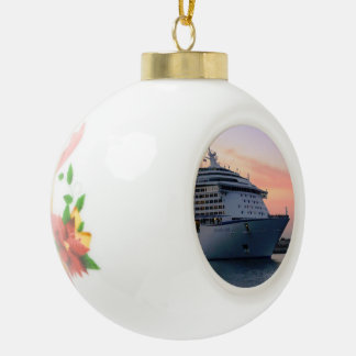 Explorer at Evening Ceramic Ball Christmas Ornament