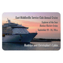 Explorer at Evening Custom Cabin Door Marker Magnet
