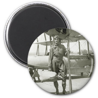 Explorer Byrd and Seaplane: early 1900s 2 Inch Round Magnet