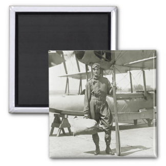 Explorer Byrd and Seaplane: early 1900s 2 Inch Square Magnet