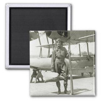 Explorer Byrd and Seaplane: early 1900s Fridge Magnet