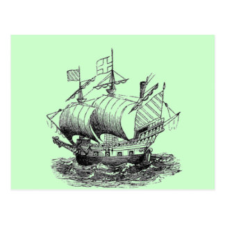 Explorer Ship Postcard