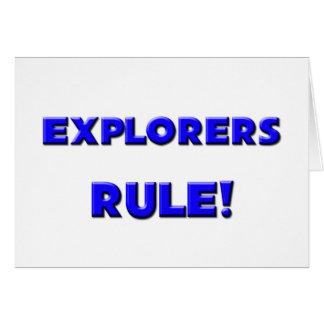 Explorers Rule Card