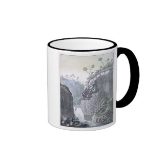 Explorers with Humboldt's Expedition in the Basalt Mug