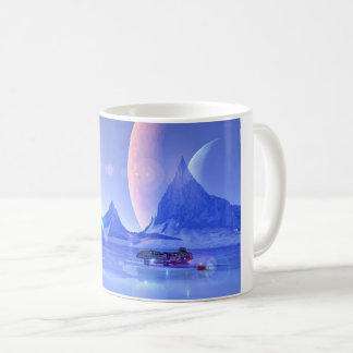 Exploring an Ice Planet Sci-Fi Art Coffee Mug