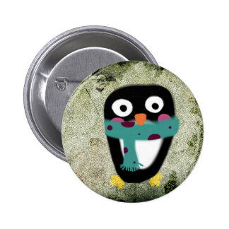 Exploring Antarctica Galápagos penguin bird button