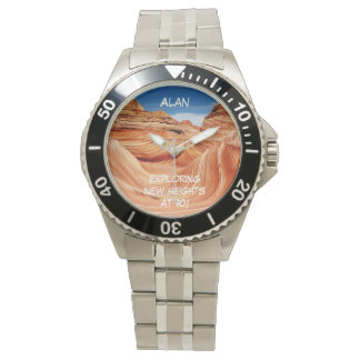 Exploring New Heights Hikers Wrist Watch Stainless