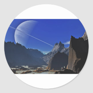 Exploring Other Worlds Classic Round Sticker