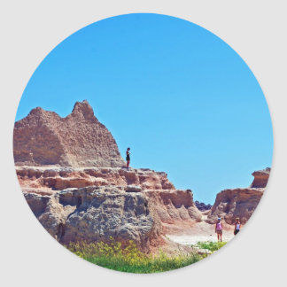 """""""Exploring the Badlands"""" collection Classic Round Sticker"""