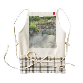 Exploring the road alone zazzle HEART apron