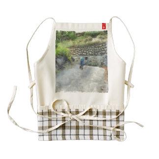 Exploring the road alone zazzle HEART apron