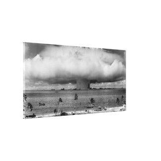Explosión 1946 del panadero del acontecimiento de impresión en lienzo