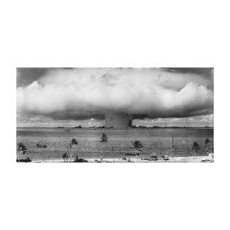 Explosión 1946 del panadero del acontecimiento de  lona envuelta para galerías