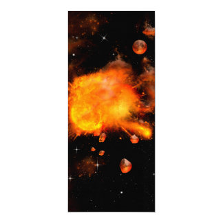 Explosion a planet 4x9.25 paper invitation card