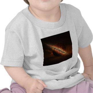 Explosión abstracta del fuego galáctica camiseta