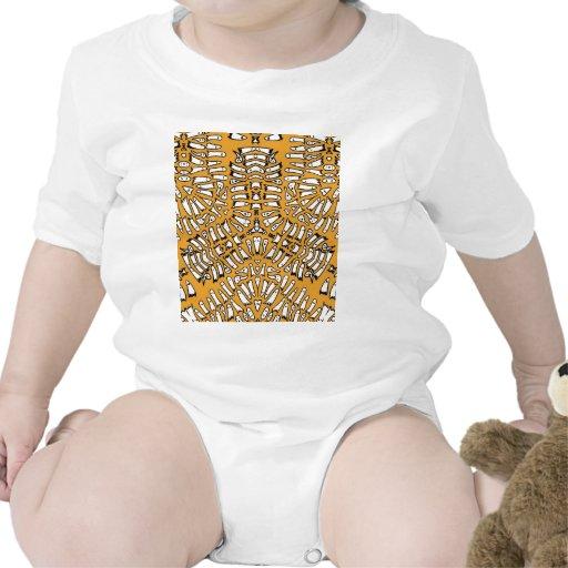 Explosión anaranjada del mosaico del fantasma traje de bebé