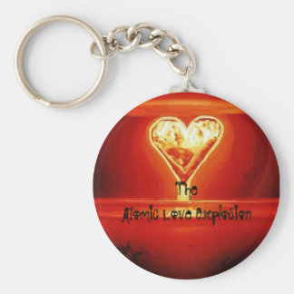 Explosión atómica keychain. del amor llavero redondo tipo pin