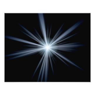 Explosión azul de la llamarada de la lente fotografía