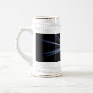 Explosión azul de la llamarada de la lente taza
