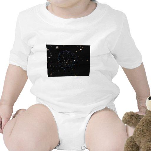 Explosión azul del espacio trajes de bebé