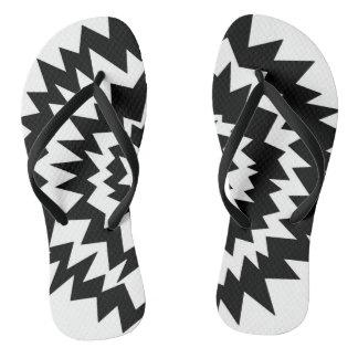 Explosión blanco y negro, flips-flopes