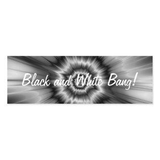 ¡Explosión blanco y negro! Tarjeta de visita flaca