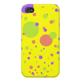 Explosión brillante de la burbuja Caso de IPhone iPhone 4/4S Carcasas