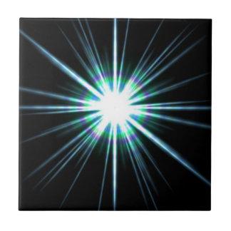 Explosión brillante de la llamarada solar azulejo cuadrado pequeño