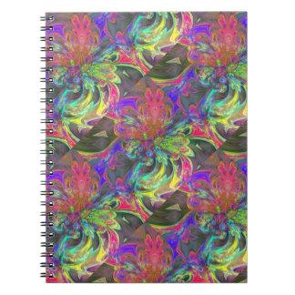 Explosión brillante del color - salmones y añil cuaderno