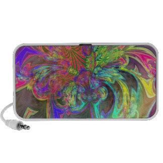 Explosión brillante del color - salmones y añil De Laptop Altavoces