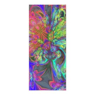 Explosión brillante del color - salmones y añil invitación 10,1 x 23,5 cm