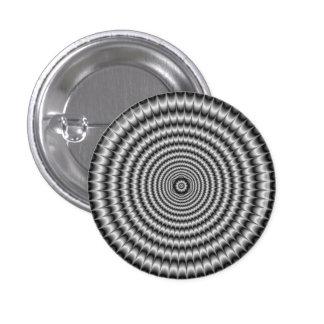 Explosión circular   del botón de Pinback en plata Pins