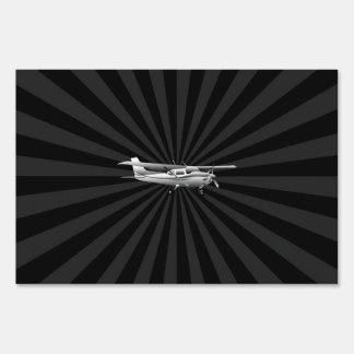 Explosión clásica del vuelo de la silueta de letreros